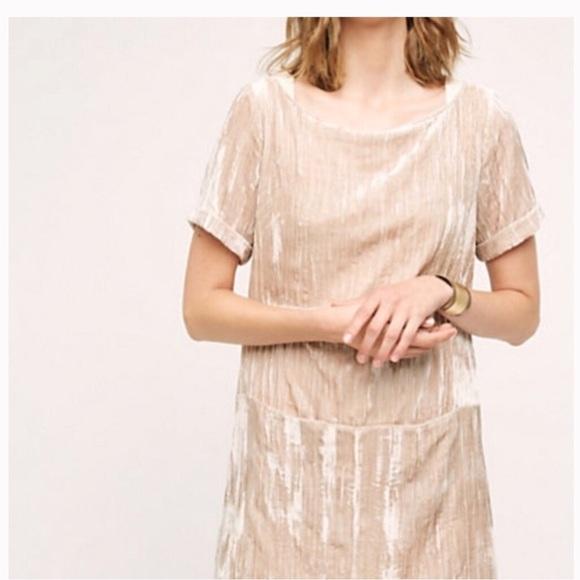 e491a4a87ad3 Anthropologie Dresses & Skirts - Anthropologie Floreat Crushed Velvet Shift  Dress